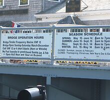 Woods Hole Bridge's schedule by Eric Sanford