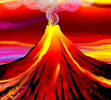 Eruption of a volcano	 by tillydesign