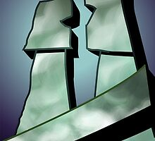 Romance of stone couple	 by tillydesign