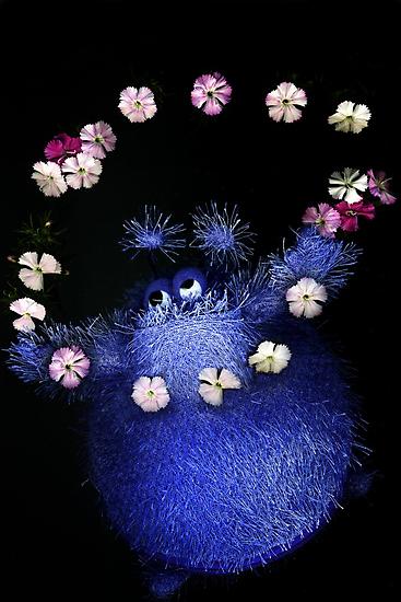 happy flower monster by nadine henley