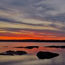 Tuggerah Lake. Sunset,,NO2,,25-9-2010,Australia. by Warren  Patten