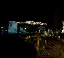 Night time illumination of the Acropolis by Mark Prior