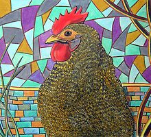 313 - CHICKEN DESIGN - DAVE EDWARDS - COLOURED PENCILS - 2010 by BLYTHART