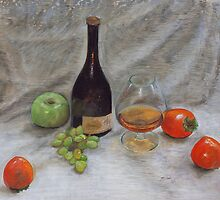 Cognac & Fruit Still Life by mdaudin