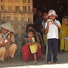 Phan Thiet - Bamboo house's family by Jean-Luc Rollier