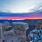 Grand Canyon National Park Pink Sunrise by photosbyflood