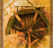 Country Cider Mill Water Wheel by Jonice