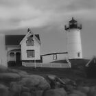 Favorite LightHouse in B&W! by flyprincess