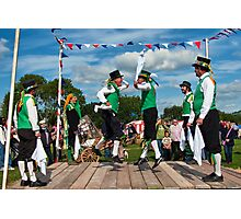 Morris Men ~ Colyford Goose Fayre 2010 Photographic Print