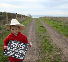 No Trespassing Little Cowboy by 027store