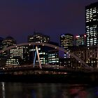 Southbank Bridge At Night - Melbourne by Scott Sheehan