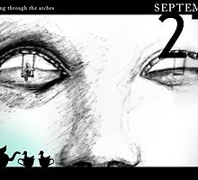 September 27th - Watching through the arches by 365 Notepads -  School of Faces