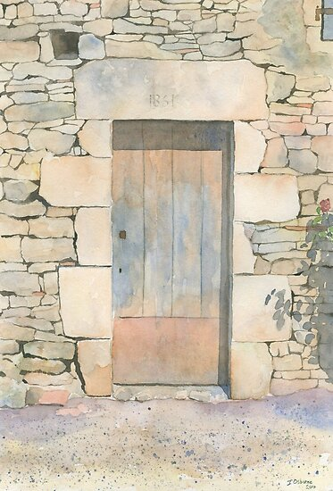 Doorway, Les Michelots, France by ian osborne