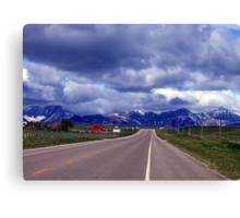 Road to the Rockies Canvas Print