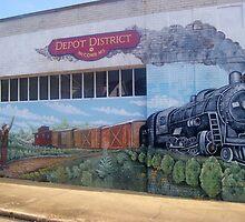 McComb Depot District Mural by Dan McKenzie