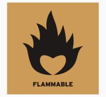 Flammable heart (sticker) by DanielRomero