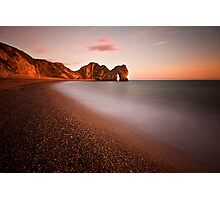 Durdle door at sunset Photographic Print