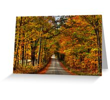Leaves Are Falling Allready Greeting Card