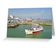 Yorkshire Belle in Bridlington Harbour Greeting Card