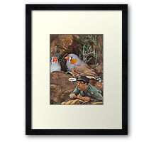 M Blackwell - They're Coming This Way! Framed Print