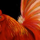 Rooster in Red by MarieHamby