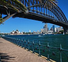The Sydney Harbour Bridge and Harbour by Chris  Randall