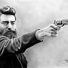 Ned Kelly drawing by John Harding