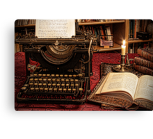 the old typewriter Canvas Print