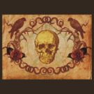 Skull, Crows and Roses by Voila and Black Ribbon