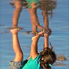 Reflection - Girl in a Green Shirt by Ray Schiel