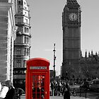 Red Telephone Box in Westminster London by Chris L Smith