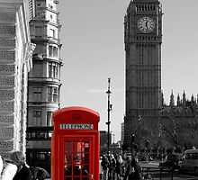 Red Telephone Box in Westminster London by chris-csfotobiz