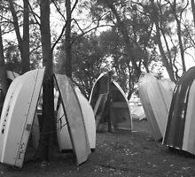 Vertical Dinghies, Sydney, Australia by kimathy