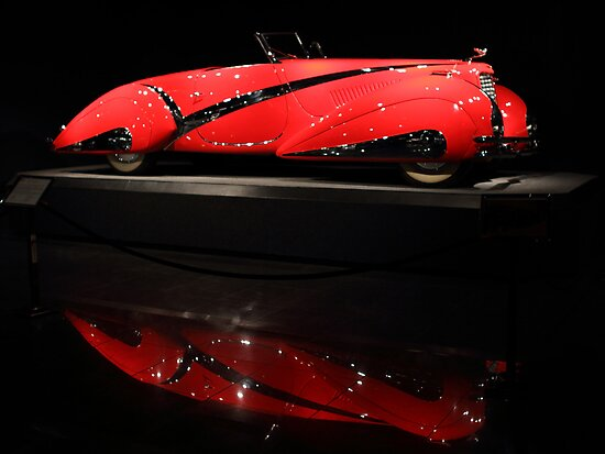 Red Cadillac Reflections by transportation