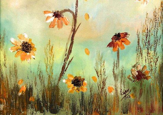 WILDFLOWER MEADOWS - Flower Paintings, Field Flowers