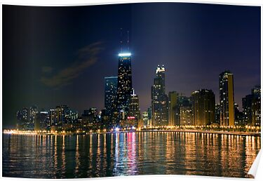 chicago skyline at night by brian gregory
