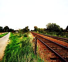 Where the road meets the railway - Spalding by peckjam23