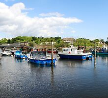 Panoramic of Lymington Harbour Hampshire by Chris L Smith