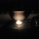 candle, pot, and moon by Anthony DiMichele