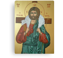 "Jesus ""Greek Icon"" Canvas Print"
