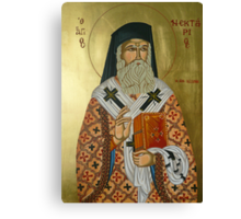 "Saint Nectarios ""Greek Icon"" Canvas Print"