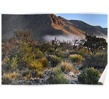 Fog At Sunrise - Guadalupe Mountains Poster