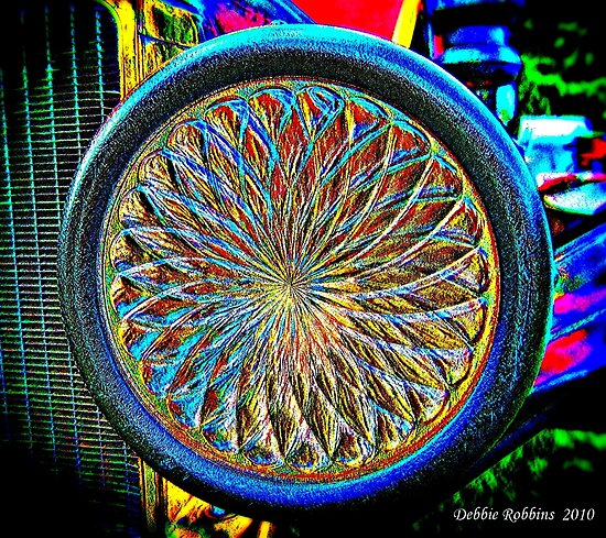 Headlight on 1929 Model A Ford Truck by Debbie Robbins