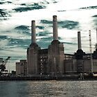 Battersea and the clouds by nirajalok