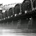 Old Train Bridge over the Fraser River by frame-by-frame
