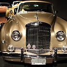 Gold Bentley by transportation