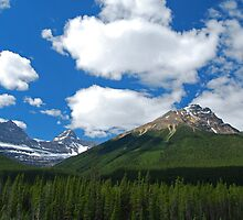 Where Heaven and Earth Kiss - Canadian Rockies by Barbara Burkhardt
