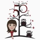 Female 50th Shirt - with Tree and Animals by shanmclean