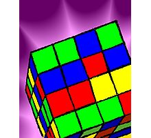 Multi Coloured cube Sudoku game	 Photographic Print