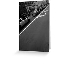 only bus. manhattan, nyc Greeting Card